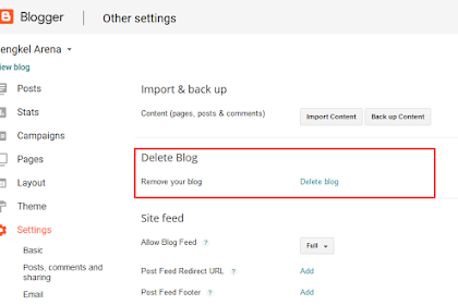 Cara Menghapus Blogger.com Secara Permanen (Cara Terbaru)
