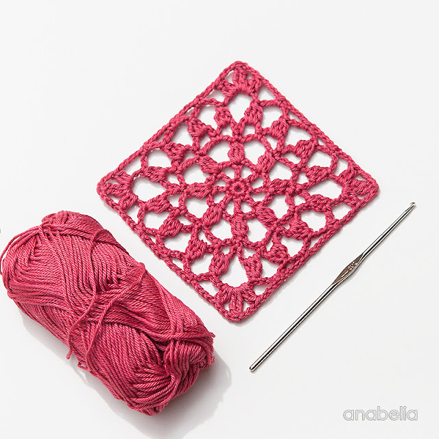 Crochet Square Motif  2/2017, Anabelia Craft Design