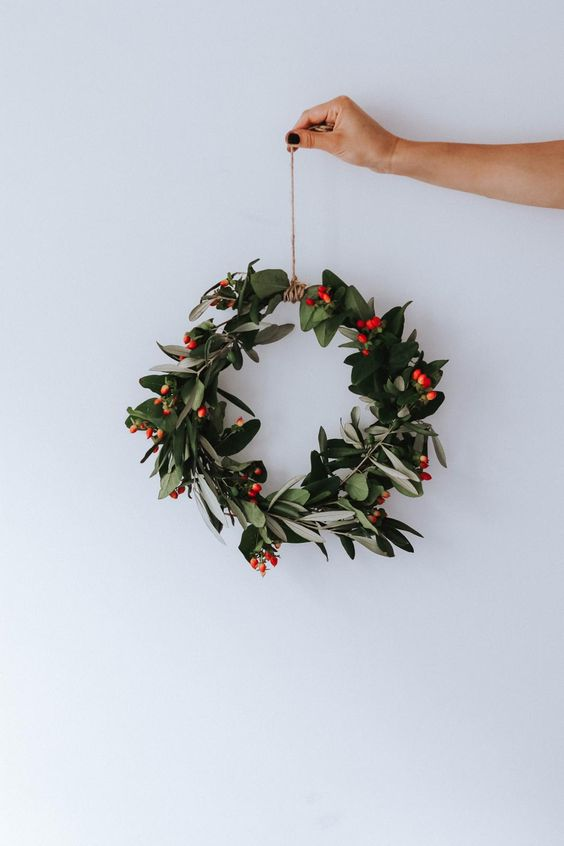 plastic free christmas wreath