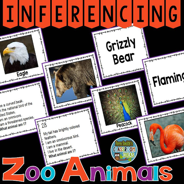Fern Smith's Classroom Ideas Inferencing Task Cards available at TeacherspayTeachers.