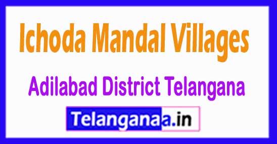 Ichoda Mandal and Villages in Adilabad District Telangana