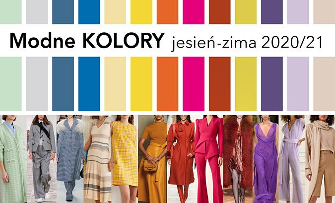 modne kolory jesień-zima 2020/2021