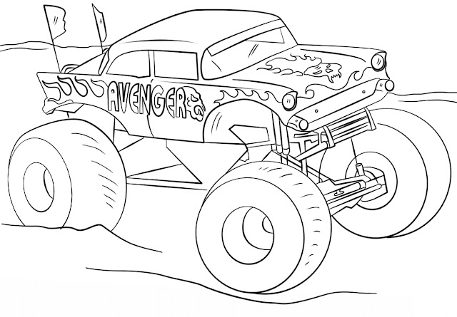 Mewarnai Gambar Monster Truck 1