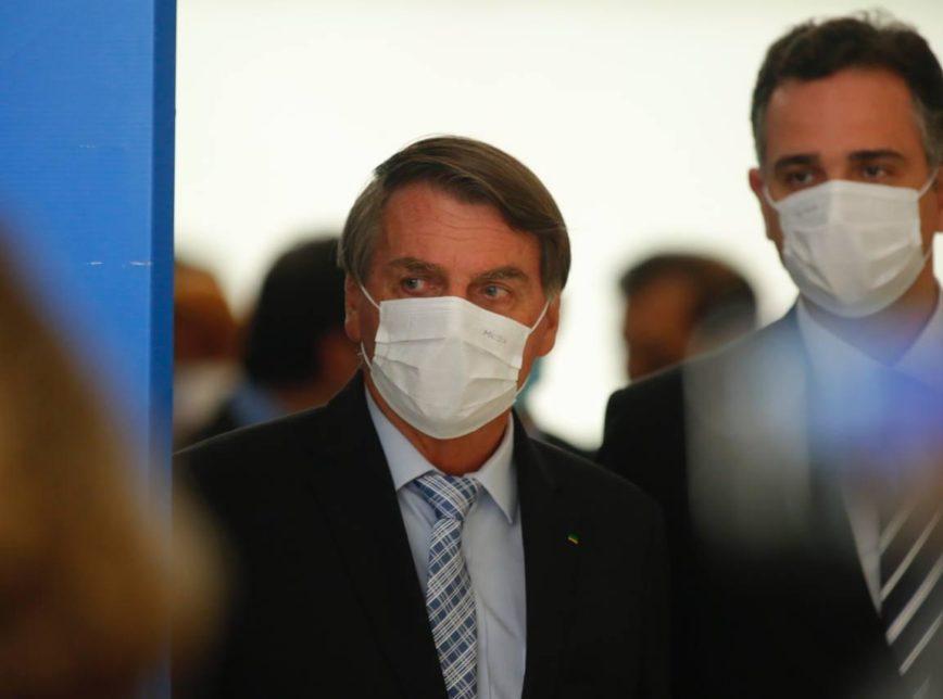 Lula criticou Bolsonaro nesta 4ª  O presidente Jair Bolsonaro e todos os integrantes do governo usaram máscaras durante um evento nesta 4ª feira (10.mar.2021) organizado no Palácio do Planalto para sancionar medidas que ampliam a capacidade de aquisição de vacinas contra a covid-19.