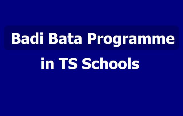 Preparatory programmes, Instructions for Badi Bata Programme in TS Schools 2019-2020