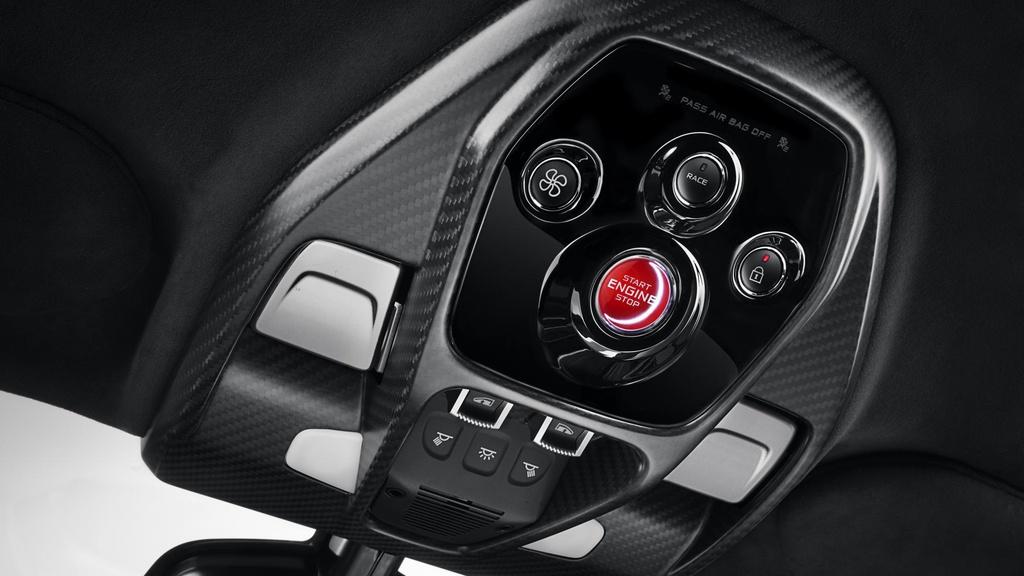 Những mẫu ôtô có nút khởi động ấn tượng nhất