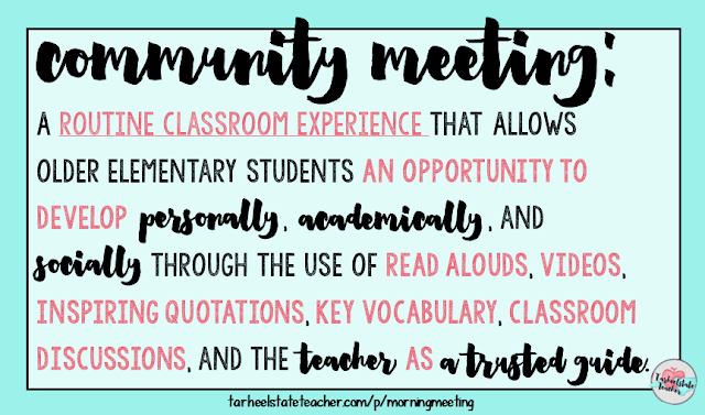 Want to learn more about implementing an upper elementary morning meeting routine? Read all about how I run my theme-based morning meeting and grab lots of freebies to help you get started in your own classroom. Provide your students with the social and emotional development opportunities they need to grow into themselves and reach their full, positive potential! Perfect for 3rd, 4th, 5th, and 6th graders!