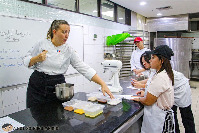 Hands-on teaching for a basic pastry class - Enderun Extension