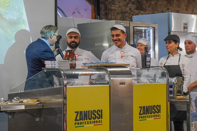 Chef con la Coppola Simone Strano e Giuseppe Torrisi