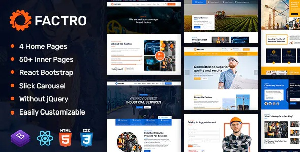 Best Industrial Multipurpose React Template