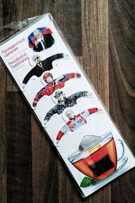 Photo of a Vladimir Putin set of teabags