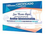 Certificado do Curso de Auxiliar Administrativo do Portal Jovem Empreendedor