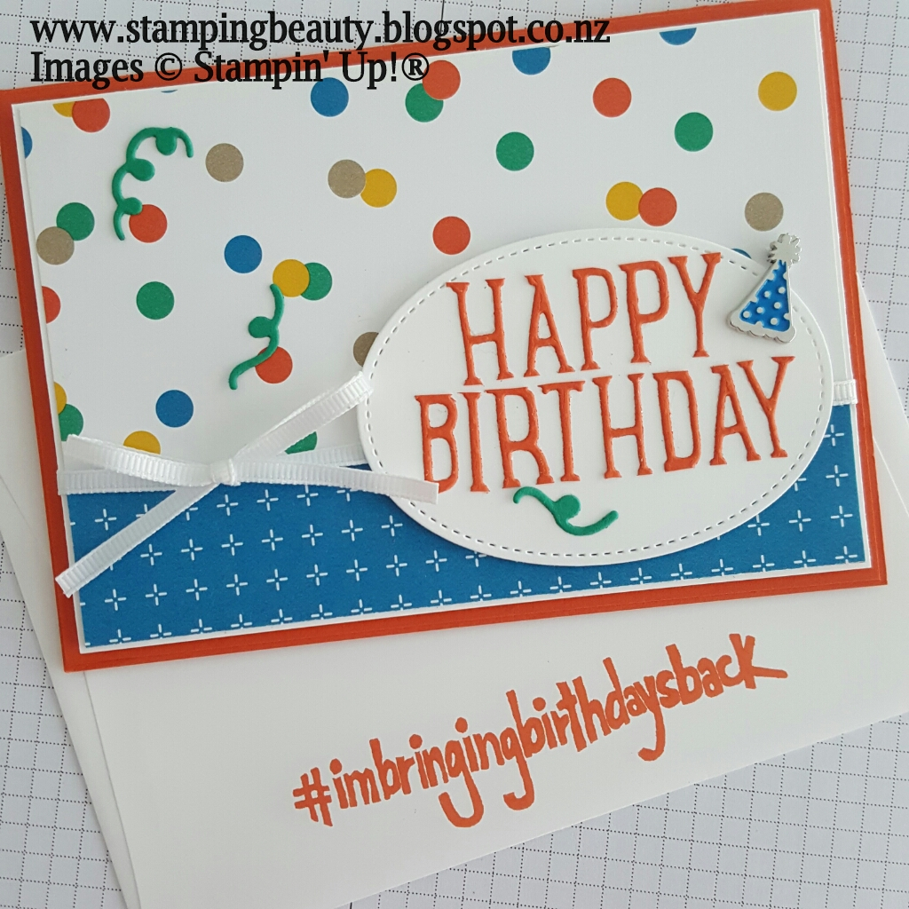 Stamping Beauty Happy Birthday Card