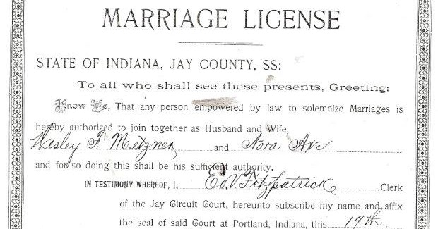 obtaining a indiana marriage license