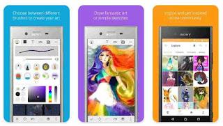 تحميل تطبيق Sketch Draw Paint, سكتش درو بانت, التخطيط, من سوني sony, افضل برنامج رسم وتلوين احترافي, مجانا للاندرويد