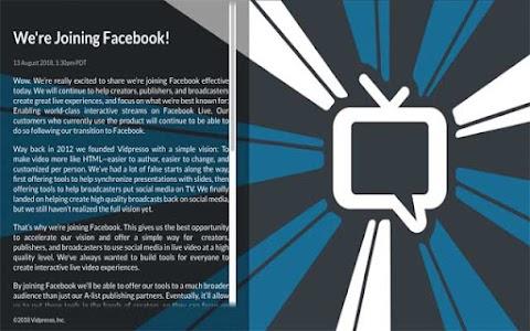 Facebook compró Vidpresso para mejorar la interacción de los videos en directo