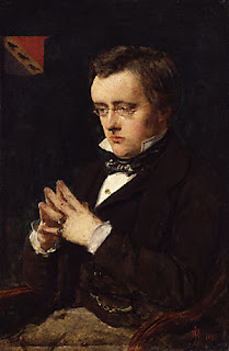 A portrait of Wilkie Collins by John Everett Millais