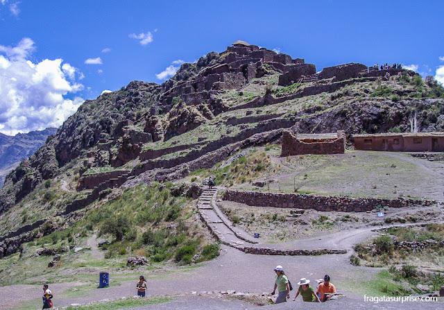 Peru, sítio arqueológico de Pisac, Vale Sagrado dos Incas