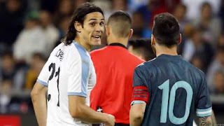 Cavani Confirms Messi Confrontation After Argentina Game