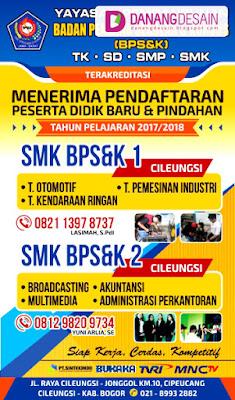 Contoh Desain Banner atau Spanduk SMK Pendaftaran Siswa ...
