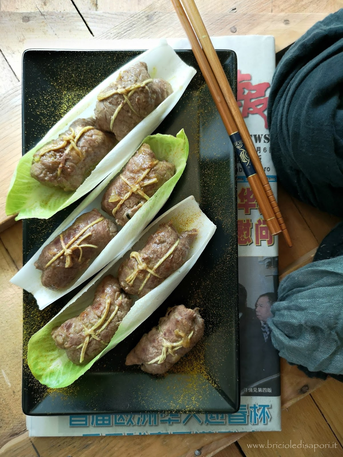 involtini con indivia belga zucchine e curry