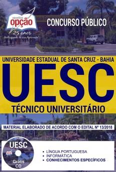 apostila UESC concurso 2018 Técnico Universitário