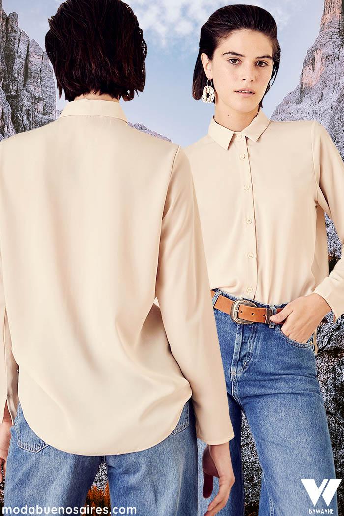 camisas invierno 2021 moda mujer