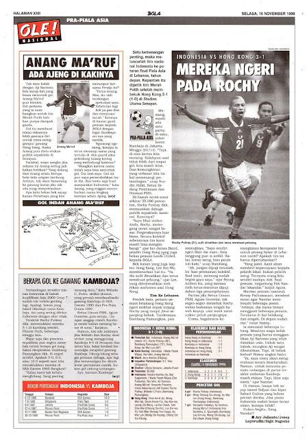 PRA-PIALA ASIA: INDONESIA VS HONGKONG 3-1