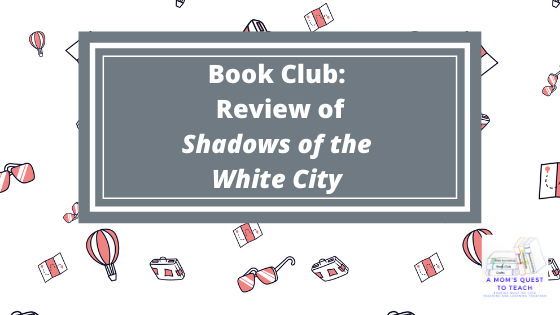 Book Club: Review of Shadows of the White City; travel clipart