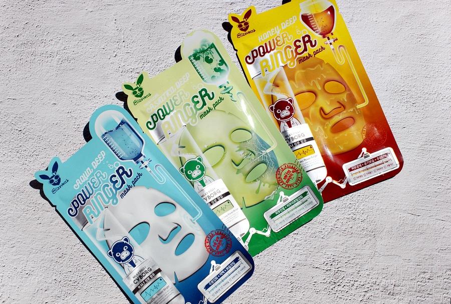 Три тканевые маски Elizavecca - с центеллой, медовая, увлажняющая. Elizavecca Deep Power Ringer Mask Pack / обзор, отзывы