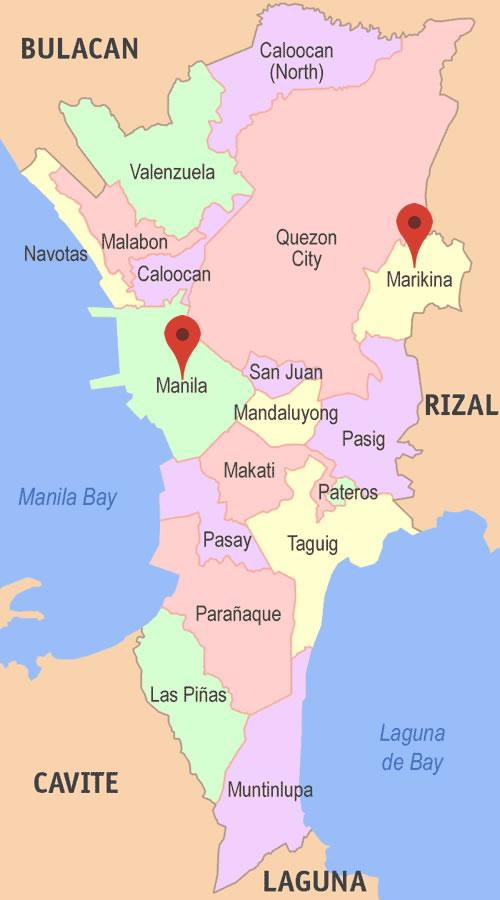 How to go from Manila to Marikina