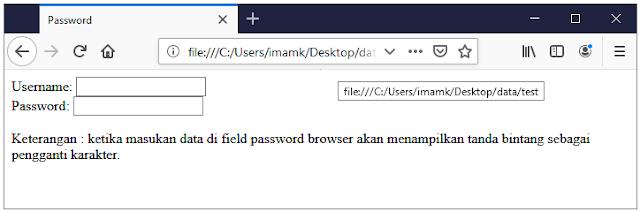 Gambar 6. Contoh password