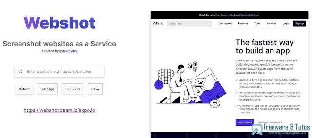 Webshot : un outil en ligne pour faire des captures d'écran de pages web