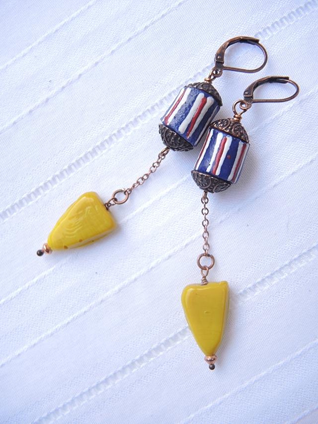DIY oorbellen/earrings : 'Kakum'