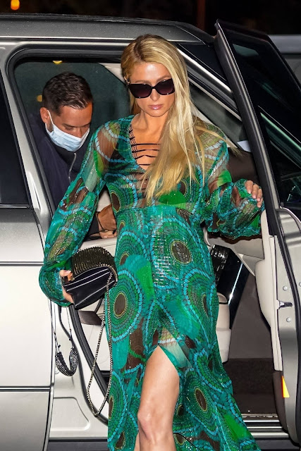 Paris Hilton – Seen after dinner at Nobu in Malibu