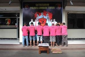 Tim Puma tangkap 7 pelaku judi Qiu-Qiu di Kecamatan Lenek