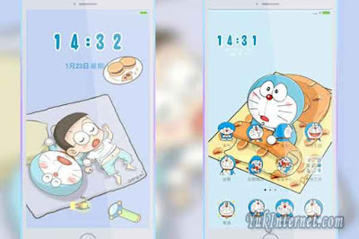 tema xiaomi doraemon and nobita sleep