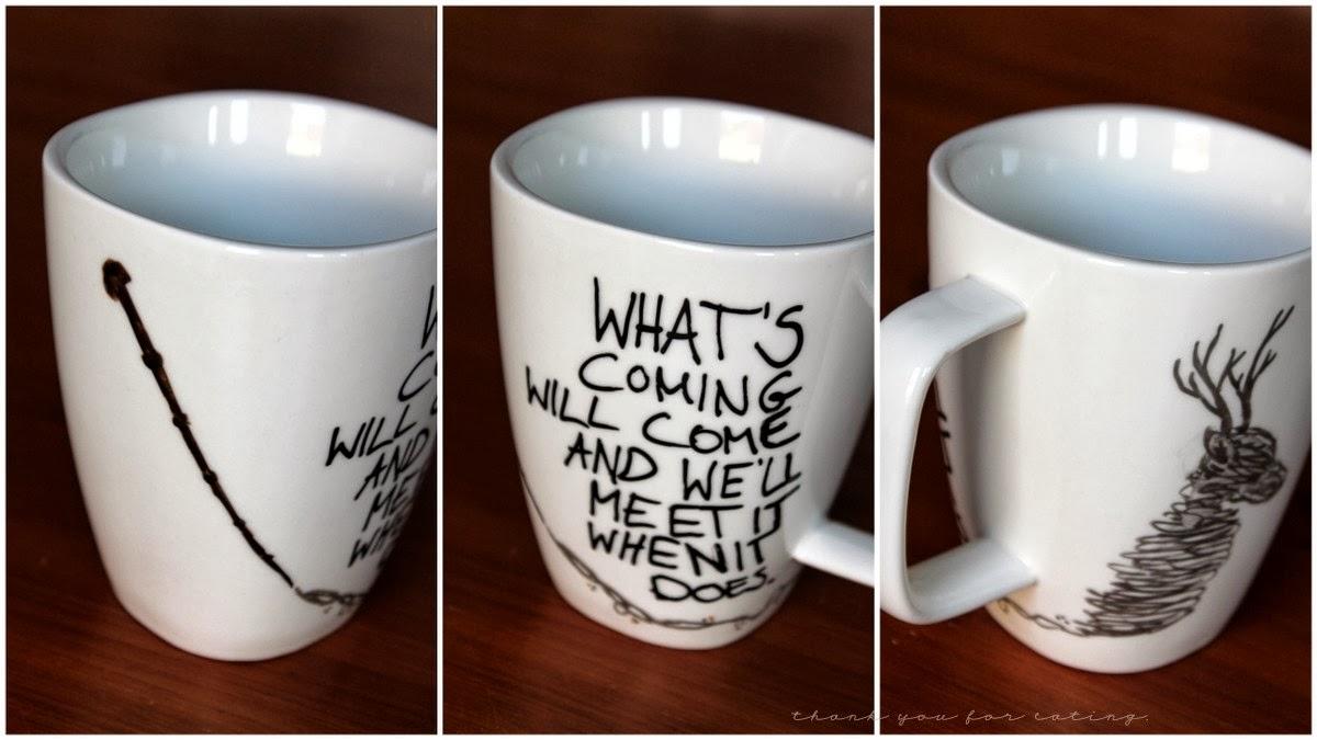 diy harry potter mugs gewinner tyfe. Black Bedroom Furniture Sets. Home Design Ideas