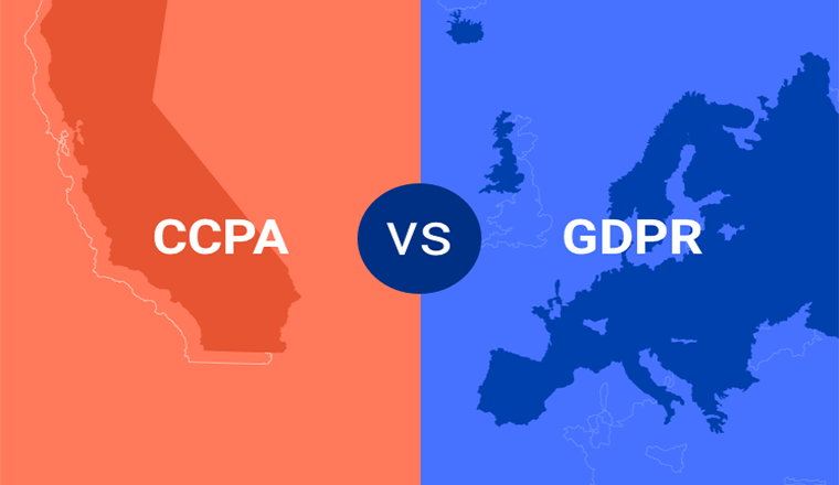 CCPA vs GDPR #infographic