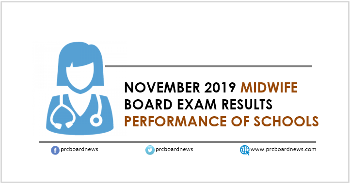 PERFORMANCE OF SCHOOLS: November 2019 Midwifery board exam result