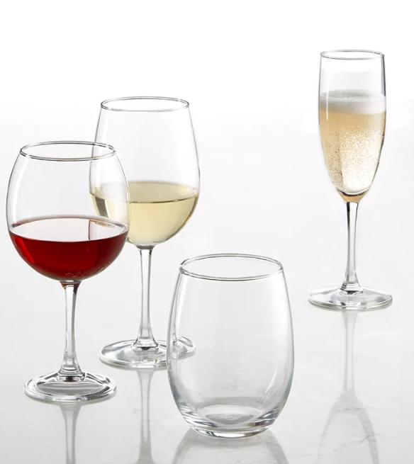 Classic glassware for entertaining
