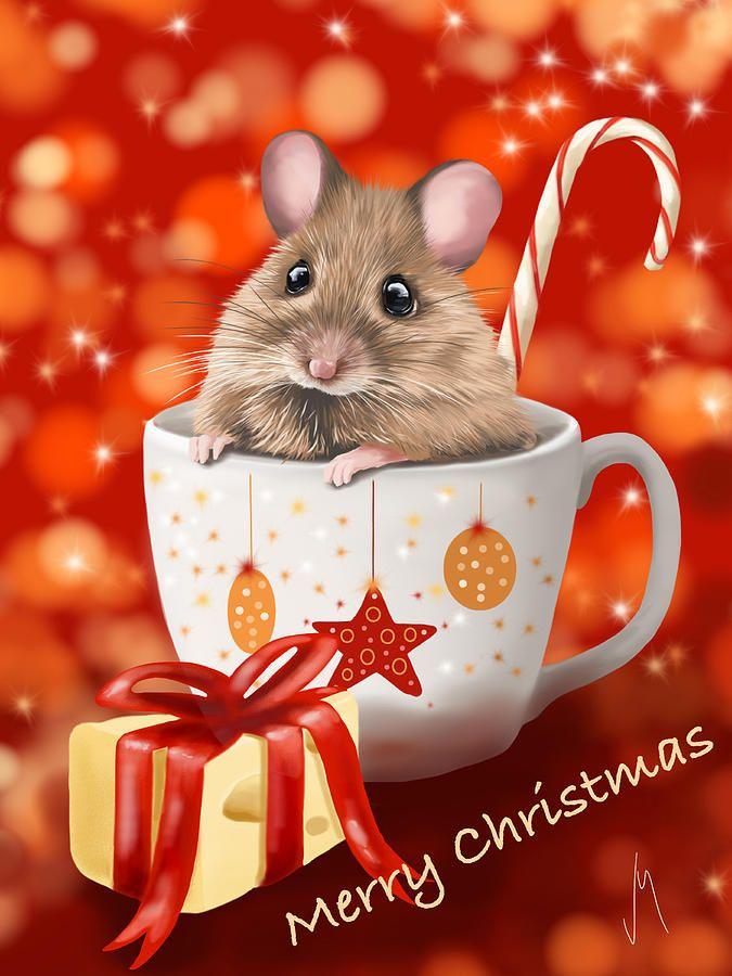 Красивые новогодние картинки мышек
