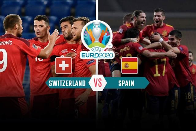 مشاهدة مباراة اسبانيا وسويسرا بث مباشر