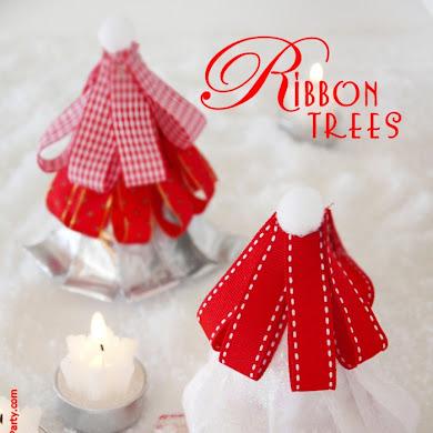 DIY Ribbon Christmas Trees Tutorial