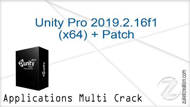 Unity Pro 2019.2.16f1 (x64) + Patch