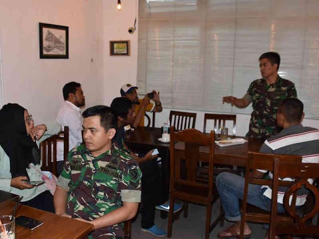 Penrem Binaiya Jalin Silaturahmi dengan Insan Pers Kota Ambon