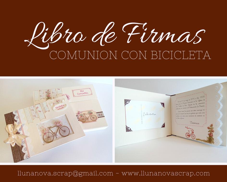 Libro de firmas personalizado con maletin para primera for Interior libro de firmas comunion