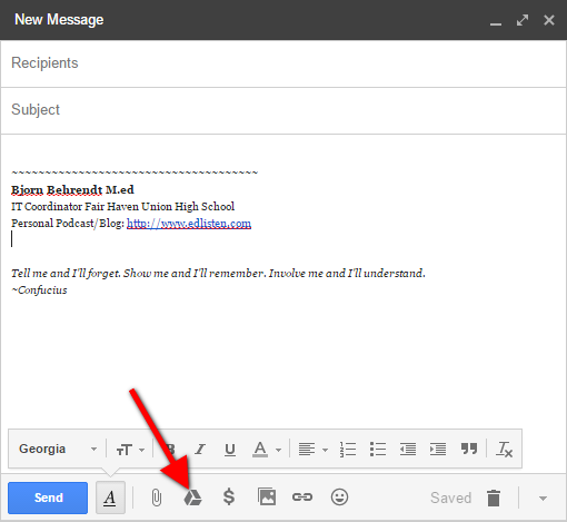 how to send a document from google drive