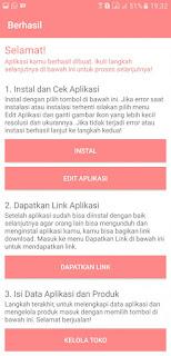 Aplikasi pembuat toko online gratis di hp Android