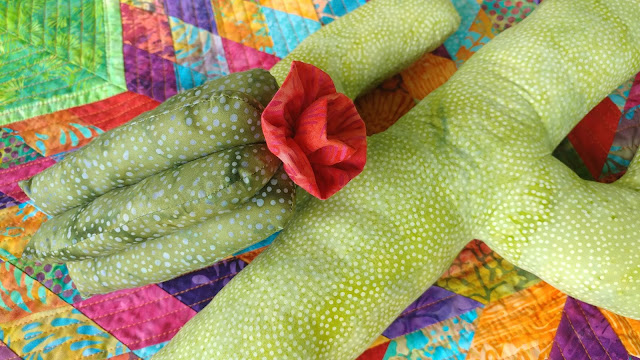 Colorful Southwest cactus pillows made with Island Batik fabrics